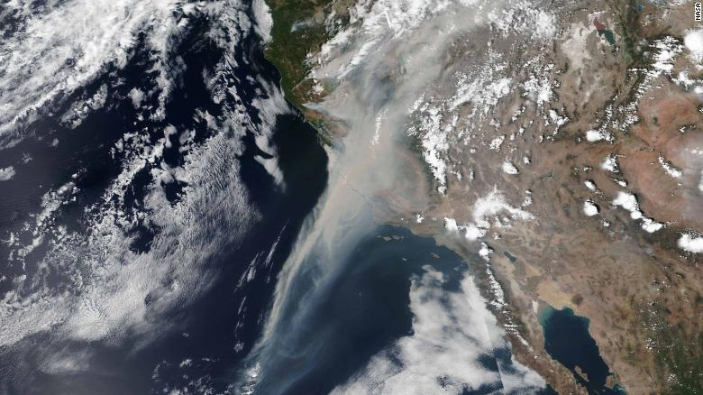 Nasa+Photo+of+Smoke+from+CA+Wildfires